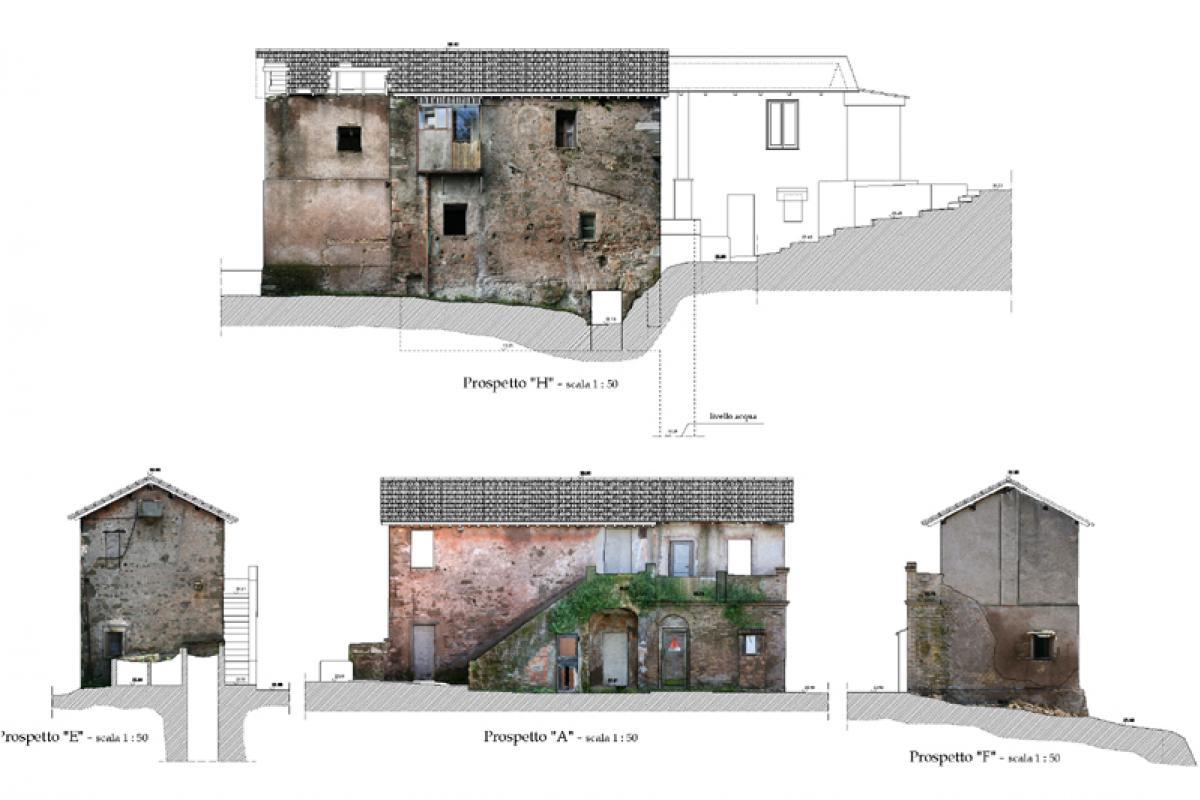 Rilievo architettonico di due casali ed edifici annessi for Appia infissi srl